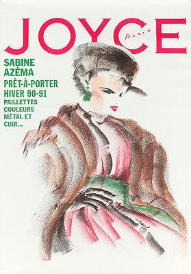 Original Vintage Poster Joyce French Fashion Magazine Atlan 1990s Haute Couture