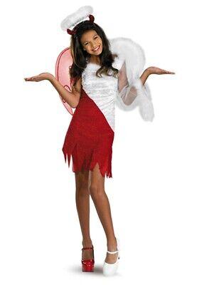 Angel Heavenly Devil Costume Dress & Wings Girls Teen Tween- M Medium - Teen Devil Girl Kostüm