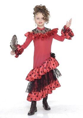 Flamencotänzerin Kinderkostüm für Mädchen - Flamenco Tänzerin Kostüm Kind