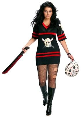 Sexy Female Miss Jason Voorhees Costume Friday the 13th - Plus Size XL 14-16](Miss Jason Costume)