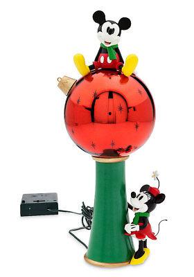 Disney MICKEY & MINNIE MOUSE LIGHT-UP XMAS TREE TOPPER Decoration Ornament NEW!