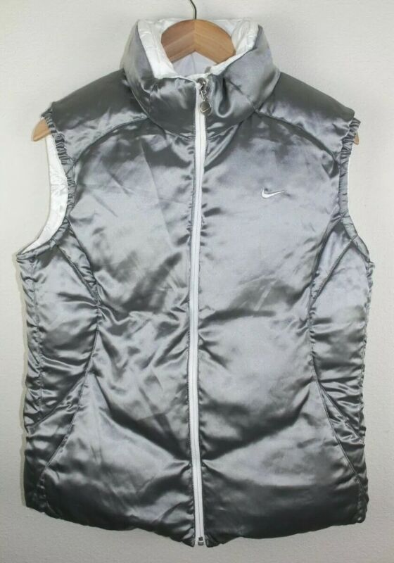 Vintage 90s Nike Duck Down Puffer Vest Size Youth L (12-14) REVERSIBLE RARE