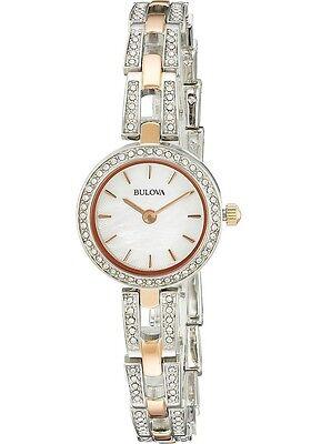 Bulova Women's Quartz Swarvoski Crystal Accents Two-Tone 23mm Watch 98L212