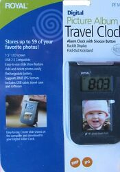 Royal Digital Travel Clock Picture Photo Album(stores 59photos) PF141 Brand New