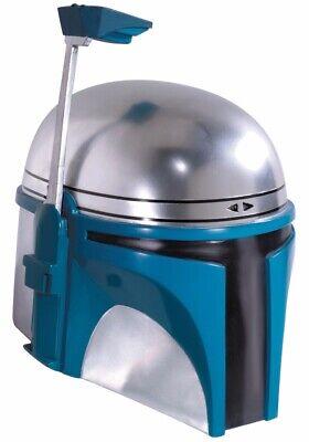 Jango Fett 2-Piece Helmet Adult Star Wars Mask Mens Authentic Licensed Fet - Adult Jango Fett Costume