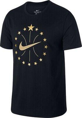 NEW NIKE MEN'S SIZE XXL NBA 16 STARS SWOOSH BLACK SPARKLY GOLD BASKETBALL