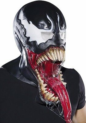 Deluxe Venom Costume Mask Adult Amazing Spider-man Villain Spiderman](Spider Man Villain Costumes)