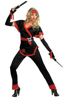 Womens Female Dragon Lady Ninja Costume S 4-6 M 8-10  L 12-14 Plus Size XL 18-20](Women Ninja Costume)
