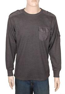 Mens 100 Cotton Waffle Knit Thermal T Shirt Top Pocket