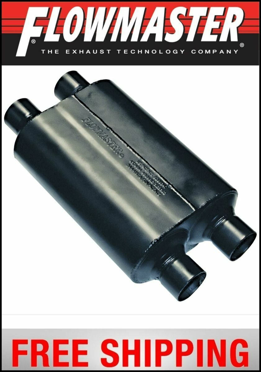 """Flowmaster 8525454 Super 40 Series Muffler 2.5/"""" In//2.5/"""" Out//19.5/"""" Long"""