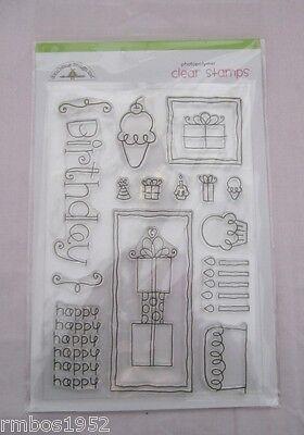 Hampton Art Doodlebug Design Inc Clear Stamps Doodlebug Birthday Set #S4293