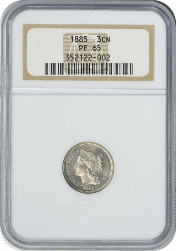 1885 Three Cent Nickel, PR65, NGC