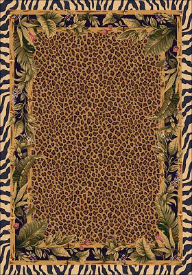4x6 Milliken Jungle Safari Skins Tropical Zebra Area Rug - Approx 3'10