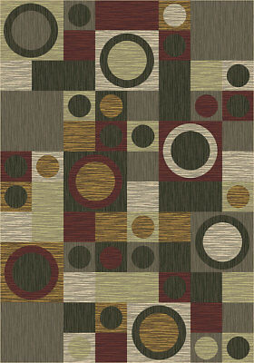4x6 Milliken Rumba Alpine Modern Checkered Area Rug - Approx 3'10