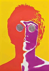 PSYCHEDELIC the beatles john lennon ringo george liverpool  A4 POSTER PRINT ART