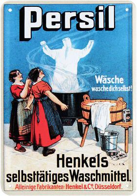 Postal de Metal Persil Henkels Selbstätiges Detergente Jabón 10 x 14,5