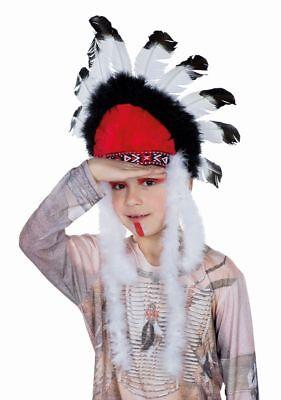 Rub - Kinder Kostüm Zubehör Indianer Häuptling Kopfschmuck - Indianer Häuptling Kostüm Kind