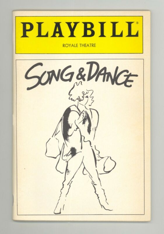 Playbill 1985 Song & Dance Bernadette Peters, d'Amboise, Onrubia, Burge, Wise