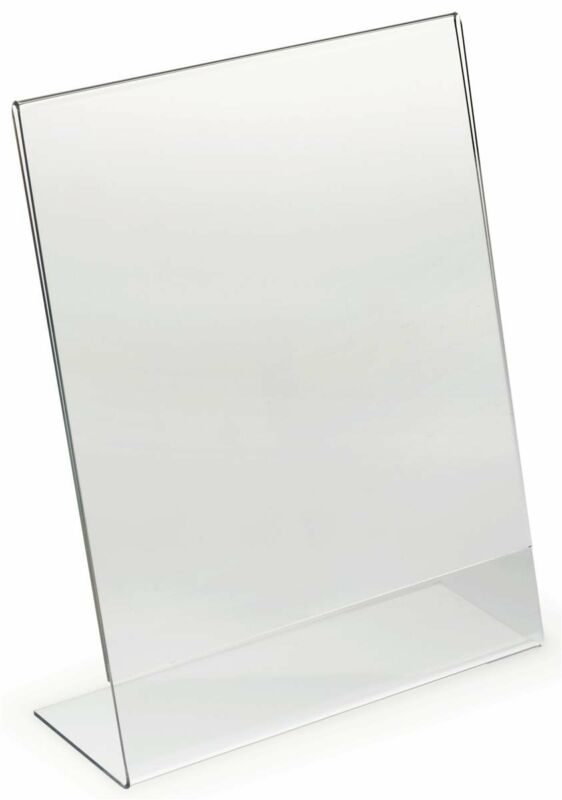 "Dazzling Displays 10 Acrylic 8.5"" x 11"" Slanted Picture Frame Holders"
