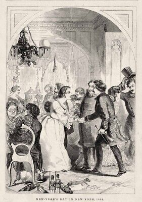 1859 New Years Eve Party New York City Matron Greets Guests Toy Soldiers - Party City New Years