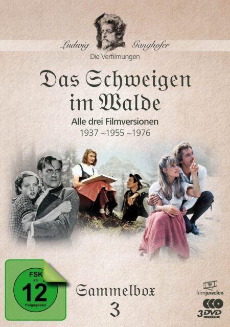 Das Schweigen im Walde (1937,1955,1976) - Ludwig Ganghofer Box 3, 3 DVD NEU+OVP!