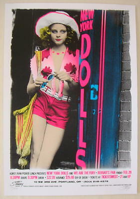 2008 New York Dolls - Portland Silkscreen Concert Poster S/N Stainboy