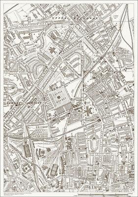 Holloway, Camden, St Pancras Old  Map 1888 - Gtr London #7 - Repro