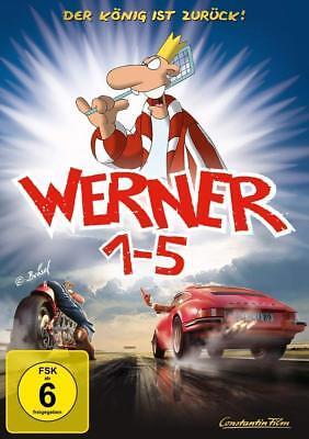 5 DVD-BOX * WERNER 1 + 2 + 3 + 4 + 5  KÖNIGSBOX  # NEU OVP