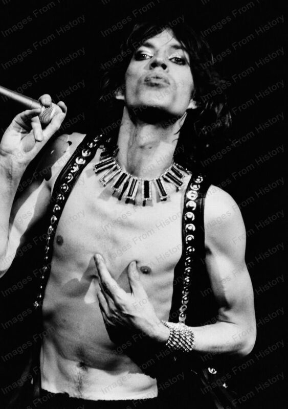 8x10 Print Mick Jagger The Rolling Stones 1975 #STO