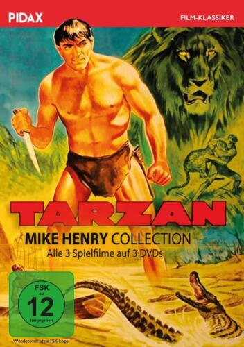 Tarzan - Mike Henry Collection * DVD alle 3 Abenteuer mit Mike Henry * Pidax Neu