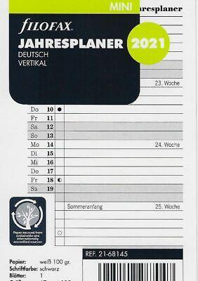 Professional Jahresplaner deutsch vertikal 2021 Filofax 21-68554 A5 Multifit