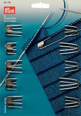 Prym Maschenraffer silberfarbig 135 mm 10 St Stitch Holders  081292 ()