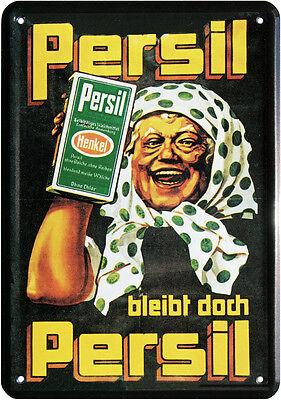 Persil bleibt Persil Nostalgie Blechschild Postkarte Retro Blechkarte PKM 81