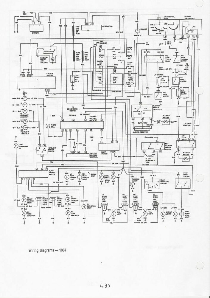 Wiring-diagrams-1987-chevy-caprice-02 : Chevrolet Caprice ... on