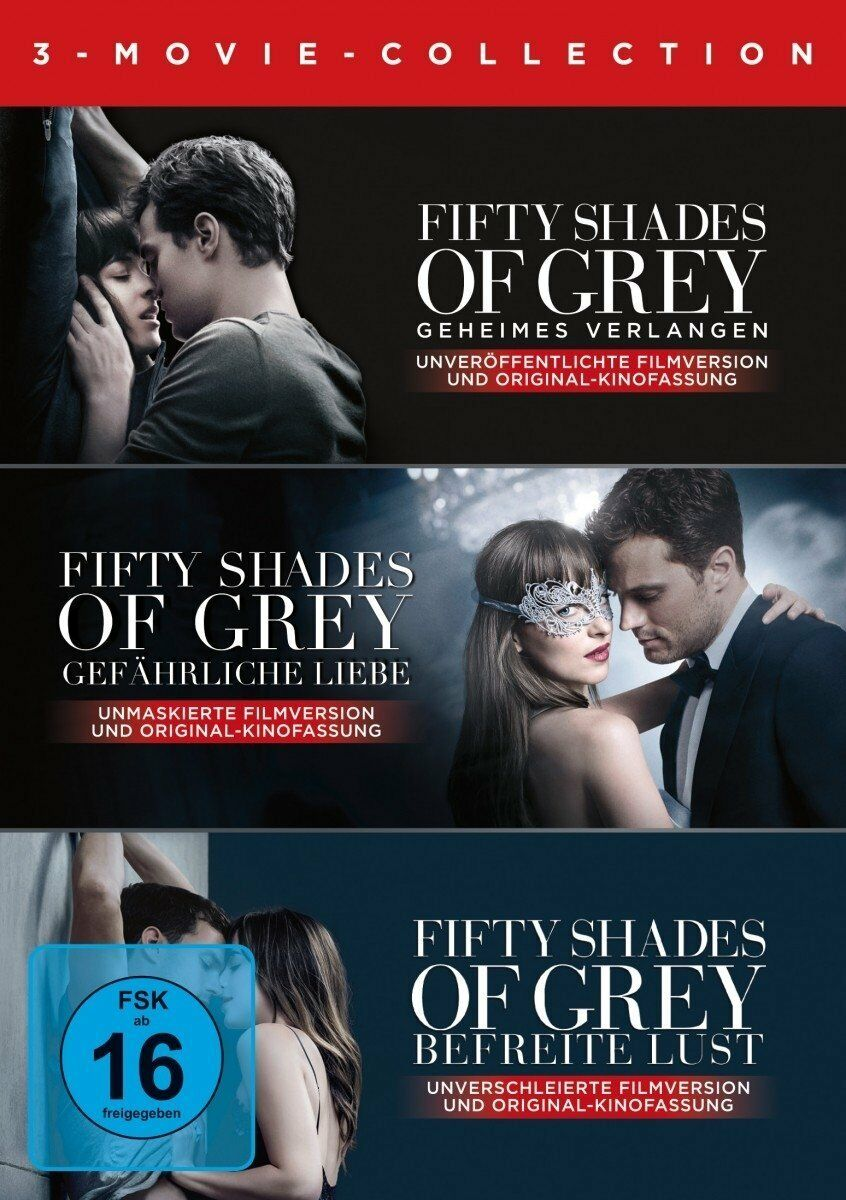 3 DVDs * FIFTY SHADES OF GREY 1 2 3 - 3 MOVIE COLLECTION  # NEU OVP +