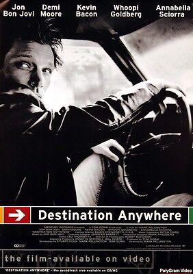 Bon Jovi 1997 Destination Anywhere Promo Poster Original