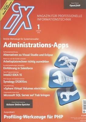 iX Ausg 1 2016: Admin Apps, Profiling Werkzeug für PHP, OpenLDAP-Tutorial/I  gebraucht kaufen  Neuenkirchen