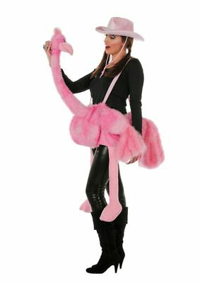 WIL - Damen Kostüm Zubehör Flamingo in rosa Karneval Fasching - Rosa Flamingo Kostüm