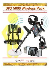 "Minelab GPX 5000 metal detector,11"" Mono + Pro-Sonic +KOSS+extras Wollongong Wollongong Area Preview"