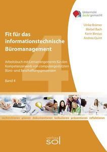Fit für das informationstechnische Büromanagement (Band 4) Arbeitsbuch - SOL NEU