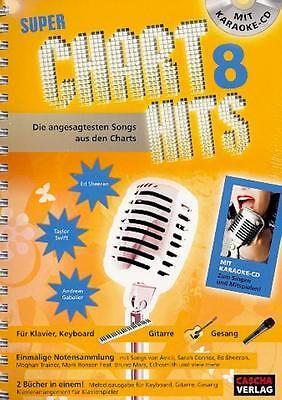 Super Chart Hits Band 8 - mit Karaoke CD - Songbook - HH1024 -  4026929918543