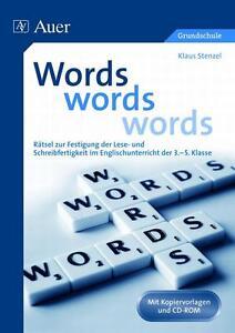 KLAUS STENZEL - WORDS, WORDS, WORDS
