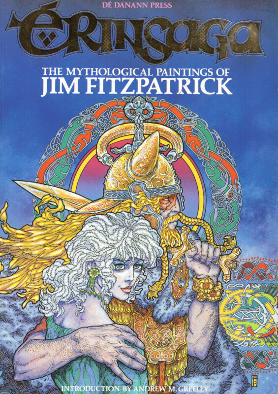 ERINSAGA+by+Jim+FitzPatrick+Signed+with+8%C3%975+print.+Fantasy%2C+Irish+Myth+%26+Legend