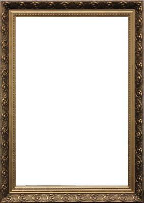 Dekorativer Spiegel mit vergoldetem Stuckrahmen   74,5 X 52,5 cm