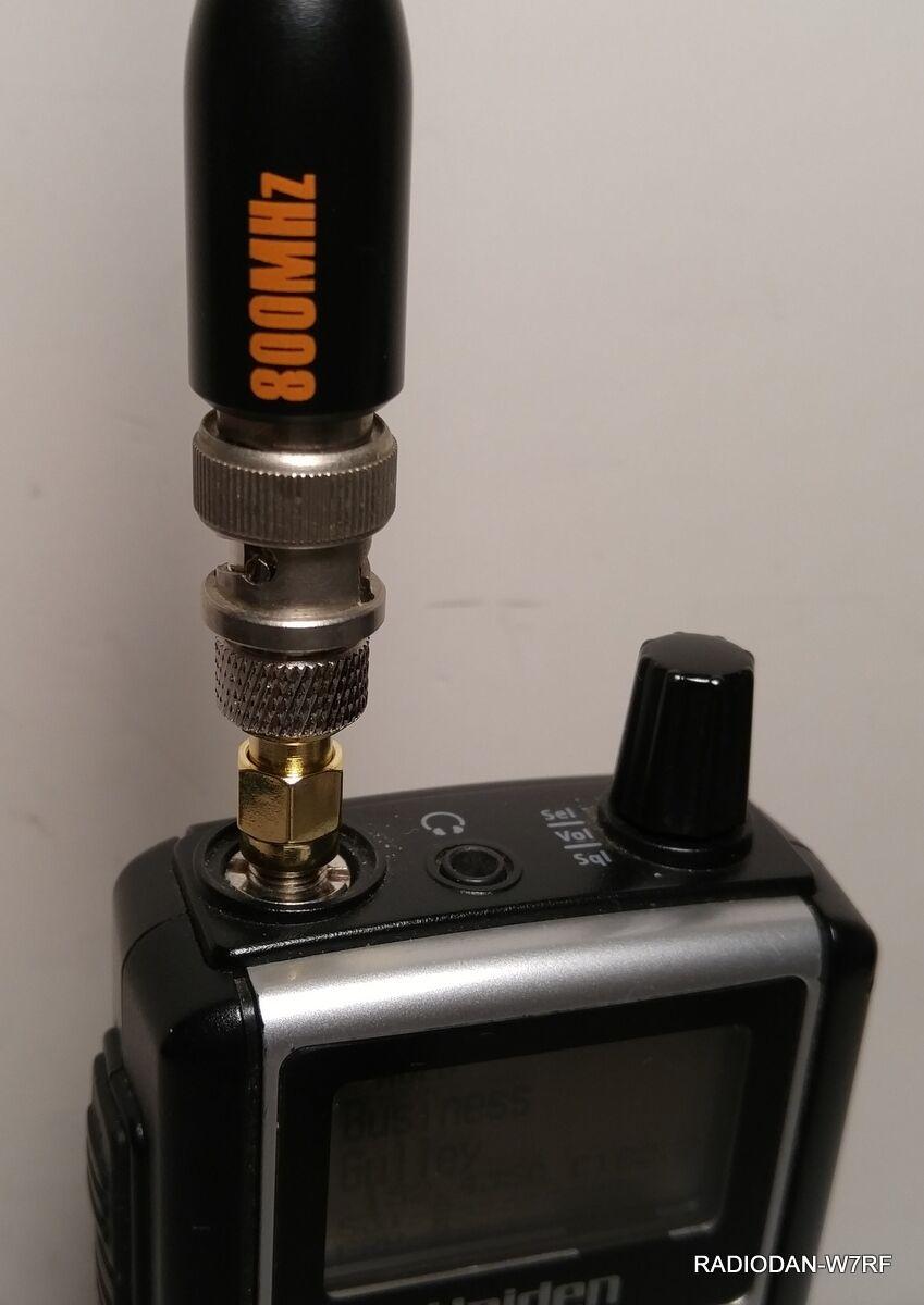 SMA/BNC ANTENNA ADAPTER Uniden SDS100 BCD396T BCD396XT