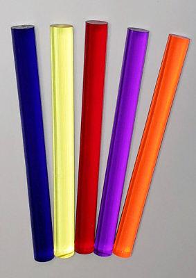 """1 /"""" Diameter by 12 /"""" in Length  Natural PEEK Rod"""