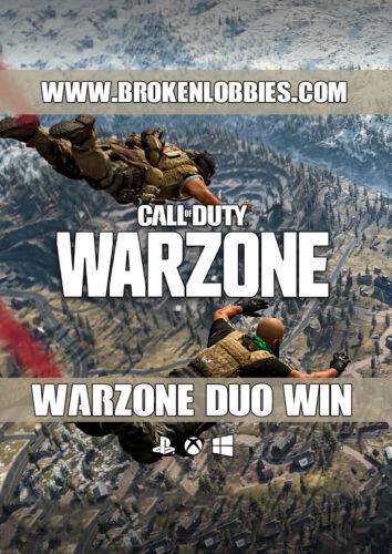 Call of Duty: Warzone Win Warzone Duo Win Bot Lobby PS4/XBX/PC/PS5