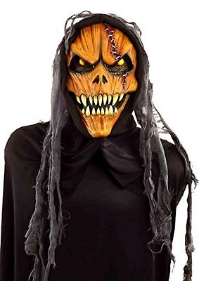 Horror Pumpkin Demon Latex Halloween Costume Scary Mask Party Masquerade Prop - Scary Demon