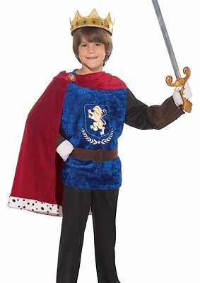 Prince Charming Costume Boys Child King Medieval Knight  S 4-6, M 8-10, L 12-14