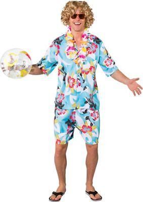 Orl - Herren Kostüm Hawaii Strandjunge Karneval Fasching ()